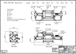 gas boosters, DLE30-75 Air Driven Gas Booster