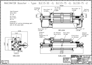 gas boosters, DLE30-75-2 Air Driven Gas Booster