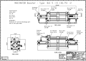gas boosters, DLE5-15-2 Air Driven Gas Booster